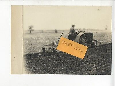 1919 Sampson Tractor General Motors Plow vintage cloth backed Photo
