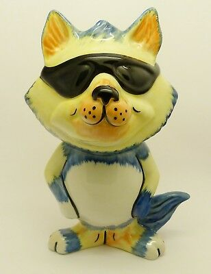 Fabulous Lorna Bailey Fun Large 'cool Cat' Figure - Good Condition - Great Gift!