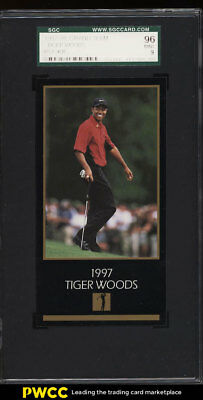 1998 Champions Of Golf Masters Collection Tiger Woods ROOKIE RC SGC 9 MT (PWCC)