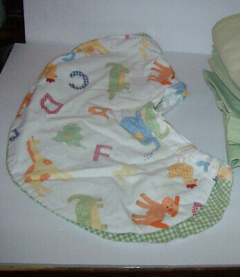 Pottery Barn Kids  Alphabet Soup Green Curtains & Pillow Case