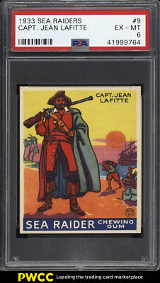 1933 World Wide Sea Raiders Captain Jean Lafitte #9 PSA 6 EXMT (PWCC)