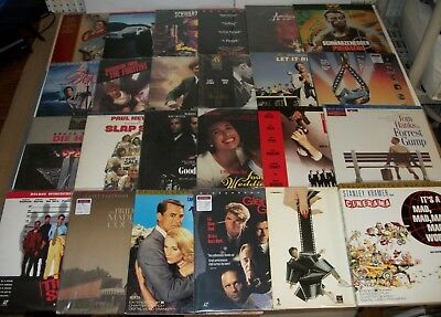 Lot of 24 LASERDISCS Movies THE TERMINATOR Predator DIE HARD Blues Brothers CROW