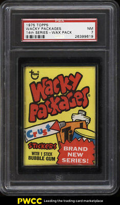 1975 Topps Wacky Packages Wax Pack 14th Series PSA 7 NRMT (PWCC)