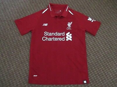 Liverpool Fc 2018/19 Home Shirt - New Balance / Standard Chartered - Size Small