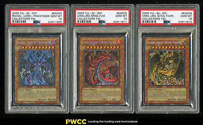 Lot(3) 2006 Yu-Gi-Oh! Collectors Tin Lord, ALL PSA 10 GEM MINT (PWCC)