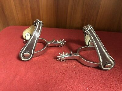Vintage Crockett Stainless Boot Spurs Beautiful Condition