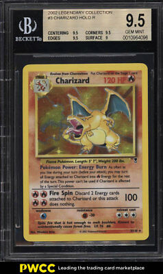 2002 Pokemon Legendary Collection Holo Charizard #3 BGS 9.5 GEM MINT (PWCC)