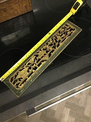 Chinese Carved Wood Pannel