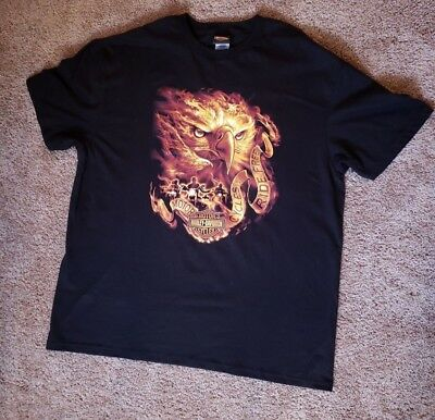 Harley Davidson Grand Junction CO flaming eagle graphic T-Shirt 2XL