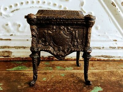 Antique Heavy Bronze Casket Box Queen Anne Legs Victorian Style