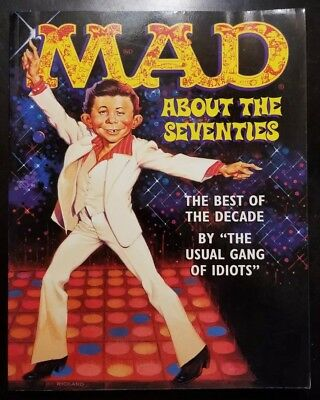 MAD Magazine Paperback Book: MAD About The Seventies Trade Softcover 1996 VF