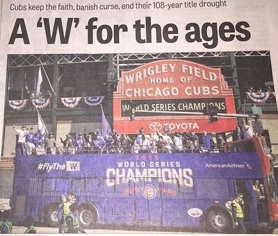 A W for the ages CHICAGO CUBS WORLD SERIES CHAMPS Grand Rapids Press NEWSPAPER !