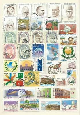 Pakistan : Album Page With Different Recent Used Stamps