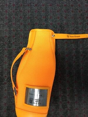 NEW Veuve Clicquot Champagne orange Zippered Insulated Neoprene Cooler Cover