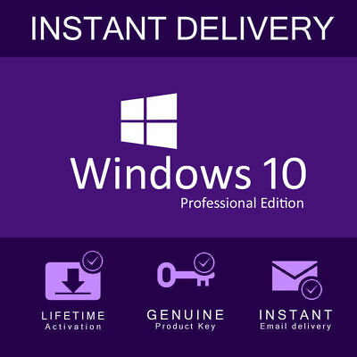 Windows 10 Pro Professional Activation Code 32/64bit Licence Key Genuine 2019