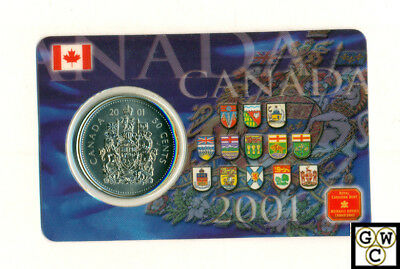 2001 Canada 50Cents Coin Card (Set of 30 Cards in a box with Magnets )(OOAK)