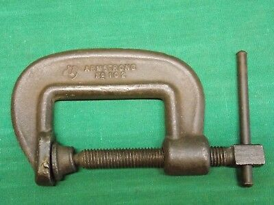 "Vintage 2"" Armstrong No. 102 C Clamp. Drop Forged Chicago USA."