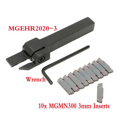MGMN300 3mm Inserts+Lathe Grooving Parting Cutter Tool Holder MGEHR2020-3
