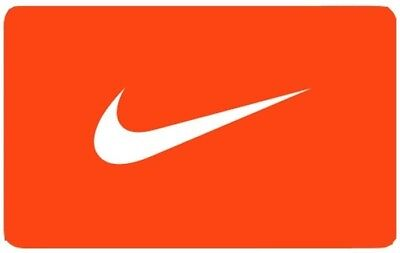 $50 Nike Gift Card Print Out Activated Ready to Use!