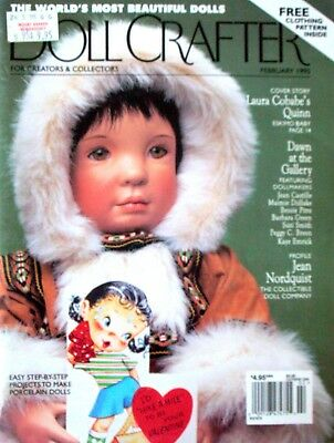 DOLL CRAFTER Magazine - Feb 1995 with pull-Out Pattern Step-by-step Projects etc