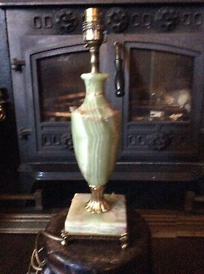 Vintage French Style Marble / Brass Vase Urn Table Lamp