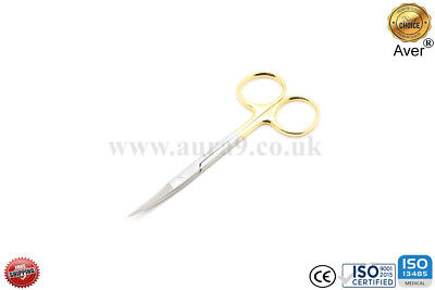 Iris Scissor TC 12 CM Curved Sharp Surgical Dental Tissue Gum Dissecting Aver