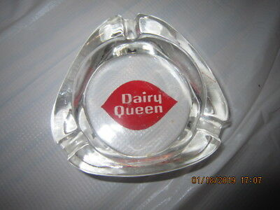 Vintage dairy queen glass ashtray