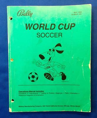 BALLY: World Cup Soccer Arcade Game: Operations Manual