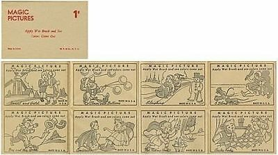 1930's Magic Pictures -- New old stock - sheet of 8 pictures -- Fairy Tales