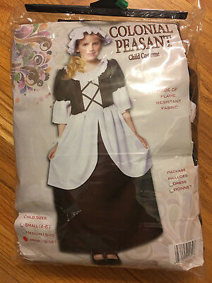 Colonial Peasant Deluxe Costume Girls Large 12-14 Child Historical Outfit