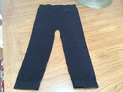 BLACK MATERNITY LEGGINGS SIZE S/M 17 inseam Be Maternity by Ingrid and Isabel