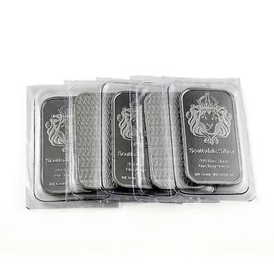 "5 x 1 oz ""The One"" Silver Bar by Scottsdale Silver .999 Fine Silver #A393"