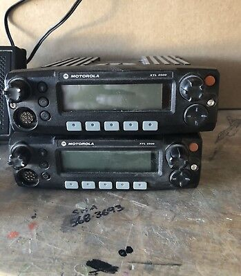 Lot Of 2 Used Motorola XTL 2500 Radios With Extras