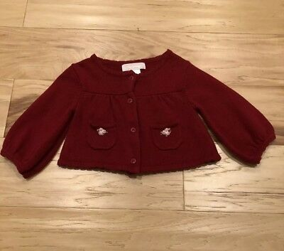 Janie And Jack Red Cardigan Sweater. 3-6 Months. EUC!!