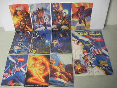Set Of 9 Marvel Masterpieces 1994 Hildebrant Brothers Promo Poster & Cards