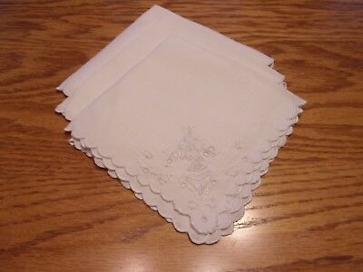 Lot Of (3) Vintage Napkins
