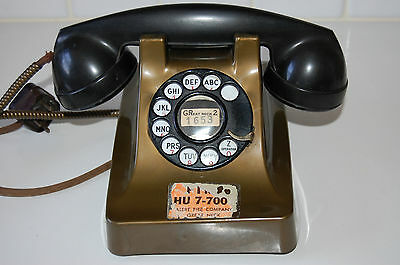 Vintage Model 302 Henry Dreyfus Western Electric Telephone With Plastic Covers