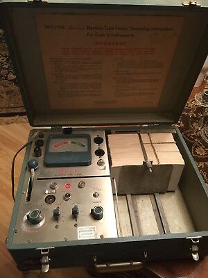 RCA WT-110A Automatic Electron Card Tube Tester For Code E - As Is