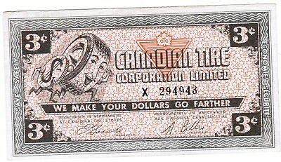 Canadian Tire Money 1962 CTC 3 - 3 cents