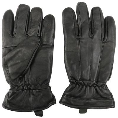 Leather Winter Gloves w/ Fur Lined Warm Black Motorcycle large size