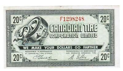 Canadian Tire Money 1962 CTC 7 - 20 cents