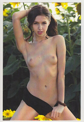 Postcard Pinup Risque Nude Stunning Girl Extremely Rare Photo Post Card 6424