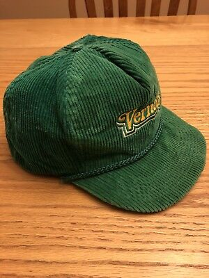 Vernors Green Corduroy Adjustable Baseball Hat