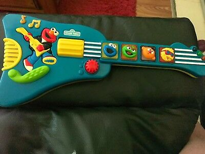 sesame street Vintage 1970's Guitar Plays Songs And Lights up