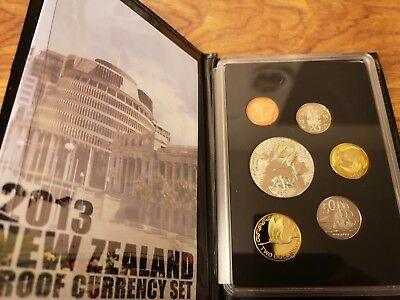 2013 New Zealand 6 coin proof set