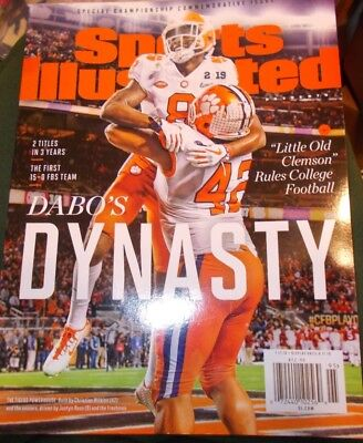 Clemson Tigers 2019 Commemorative Edition Sports Illustrated 2019 Dabo's Dynasty