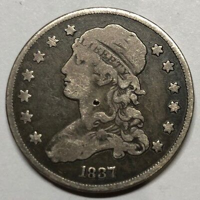 1837 Capped Bust Quarter - VERY FINE!