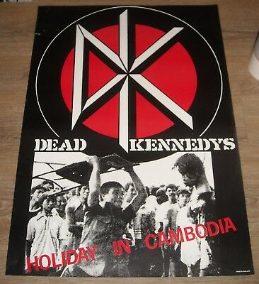 ROLLED made in UK DEAD KENNEDYS - HOLIDAY in CAMBODIA PROMO POSTER VIOLENT PHOTO