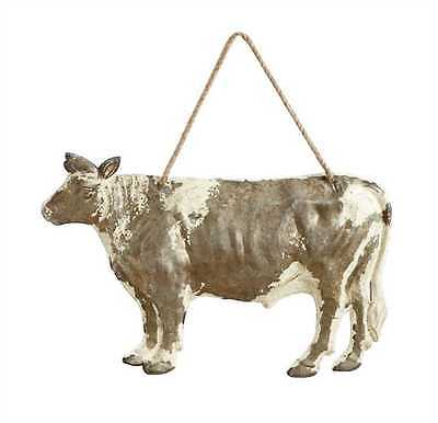 """Embossed Tin """"COW"""" Wall Sign Farmhouse Decor"""