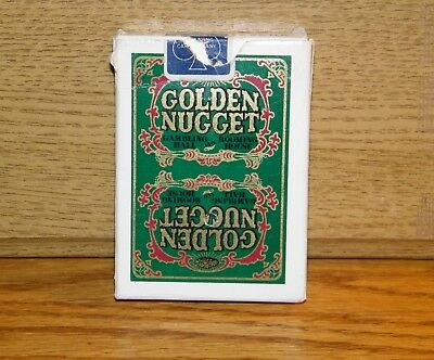 Vintage GOLDEN NUGGET Casino Playing Cards Green Deck Complete Jokers Cancelled